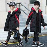 30 Degree Children'S Winter Jacket Boy Clothes Warm Down Cotton Jacket Long Hooded Coat Waterproof Thicken Kids Parka Outerwear