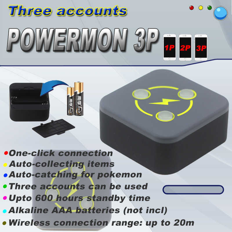 2020 Dual Vangst Monster Powermon Voor Pokemon Gaan Plus Auto Catch Voor Bluetooth 3 Trainers Gebruik Aaa Batterijen