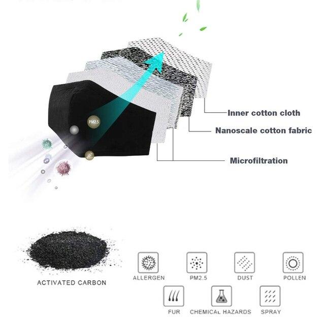 20pcs 30pcs 50pcs 100pcs PM2.5 Filter paper Anti Haze mouth Mask anti dust mask Filter paper Health Care 2