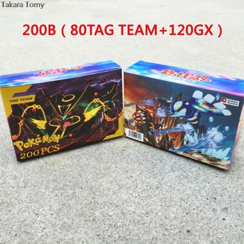200 Pcs GX TEAM Shining TAKARA TOMY Cards Game Battle Carte 100pcs Trading Cards Game Children Toy PokemonOriginal Flash Cards 1
