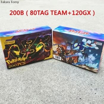 200 Pcs GX TEAM Shining TAKARA TOMY Cards Game Battle Carte 100pcs Trading Cards Game Children Toy PokemonOriginal Flash Cards 1