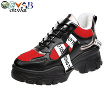 Black White Sneakers Women Fashion Leather Designer Shoes Wo