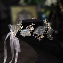 Свадебные аксессуары повязка на голову с кристаллами тиара для
