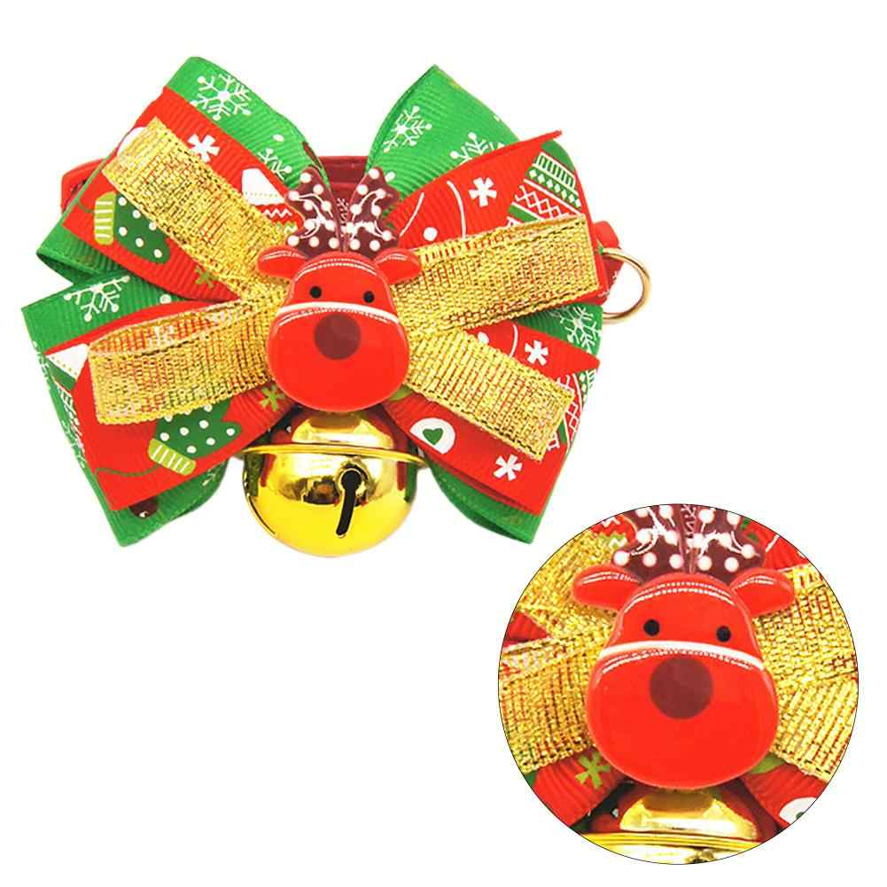 2020 Nuovi Arrivi Pet Collari Per Cani Di Natale Serie Pet Bowknot Collare di Cane Campane Gatto Bow Tie Pet Forniture Pet Collari accessori