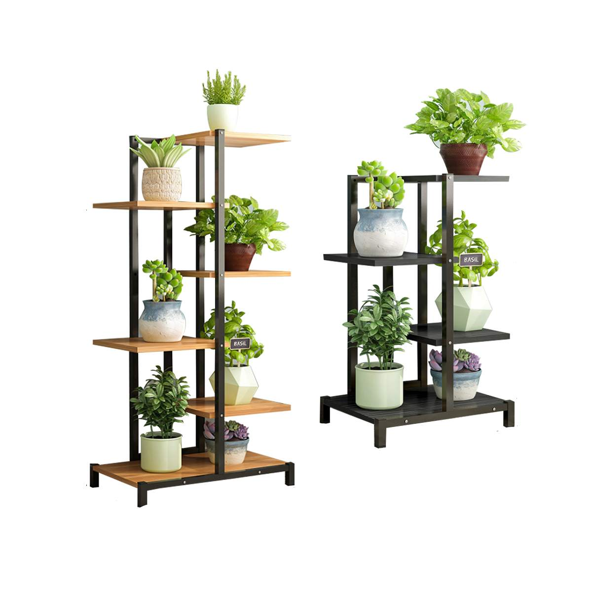 Multi-layer Floor Flower Stand Plant Shelves Balcony Living Room Interior Modern Decoration Floor Standing Flower Shelf Storage