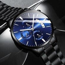 2020 New Mr Luo Shi Factory Direct Marketing Business Fashion Eye Six Stitches Quartz Watch Men Timer High-grade Calendar