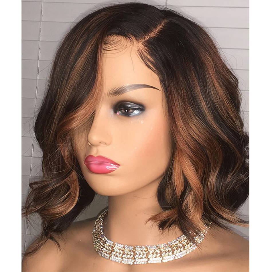 Wavy-Highlight-Human-Hair-Silk-Base-Lace-Front-Wigs-180Density-Bob-Pre-Plucked-Lace-Front-Brown (1)