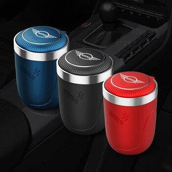 Автомобильная пепельница светодиодный светодиодной подсветкой, держатель сигареты, дыма, металлический лайнер, бездымный пепельница для BMW MINI Cooper F54 F55 F56 F57 F60 R60|Пепельница в авто|   | АлиЭкспресс