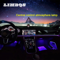 Center control panel with ambient light for porsche Panamera 971 2017 2020 console outlet panel decor atmosphere lamp
