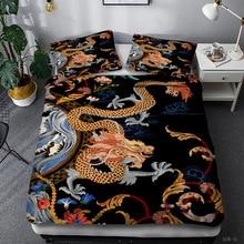Dragon 3D Printed Duvet Cover 3pcs Quilt Cover Creative Designs Bedding Set Queen King Comforter Cover Single Double Bedclothes
