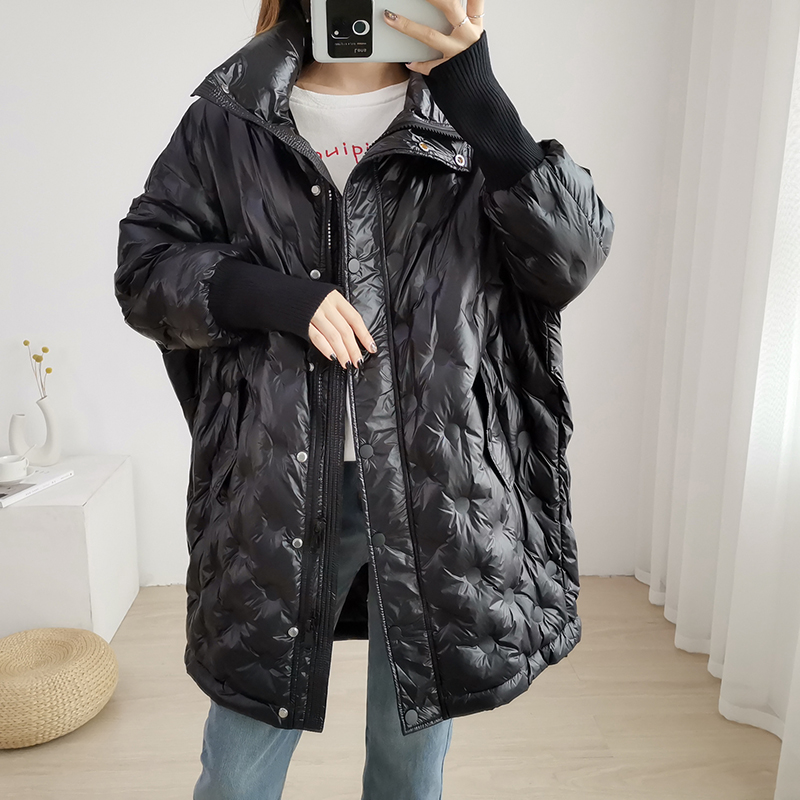 2019 Autumn And Winter White Duck Down Jacket Female Long Down Parka Plus Size Women Down Coat Female Loose Winter Jacket Women