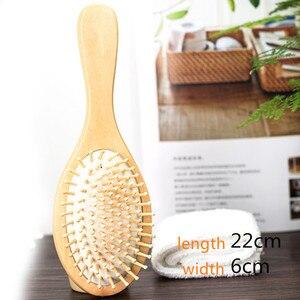 Image 5 - 1 מסרק שיער טיפול מברשת עיסוי עץ כרית עיסוי מסרק בתמיסה ספא במבוק כרית אוויר שיער מסרק ראש לקדם את זרימת דם