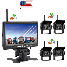 """Podofo 7""""  LCD Wireless Car Rearview Monitor HD Display Reverse Assistance Paking Camera System For Truck RV Bus Vehicle"""