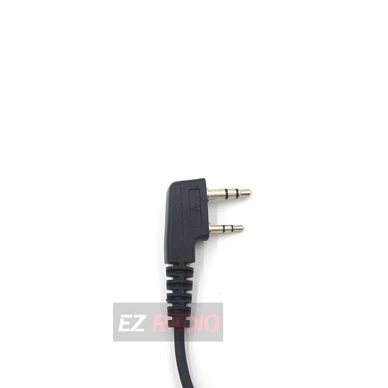 1-50 Stuks Ptt Mic Air Akoestische Buis Oortelefoon Walkie Talkie Headset Voor Kenwood Baofeng UV-5R TG-UV2 Plus H777 RT22 RT80 TH-UV8000D