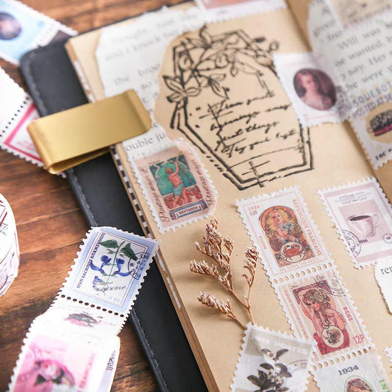 1 рулон винтажный штамп серии Бумага васи клейкая лента DIY Скрапбукинг наклейка этикетка маскирующая лента альбом дневник