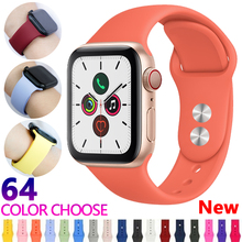 купить Strap For Apple Watch Band apple watch 5 4 3 iwatch band 42mm 44mm 38mm 40mm Correa bracelet Silicone Watchband belt Accessories по цене 106.82 рублей