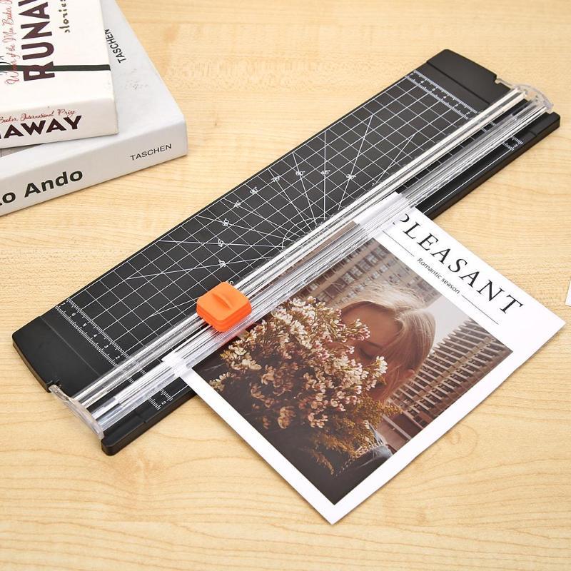ALLOYSEED Portable Paper Cutter A4/A5 Paper Trimmer Scrapbook Photo Cutting Blade Home Office Paper Card Cutter Mat Machine Tool