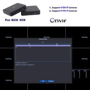 Image 2 - Mini CCTV NVR 4CH 8Ch dla H.264 16CH dla H.265 wideo nagrywarka dvd Onvif dla pełnego aparat IP HD System nadzoru bezpieczeństwa Alarm