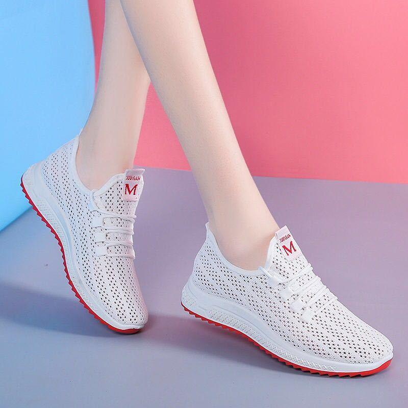 Woman Shoes Breathable Mesh Platform Sneakers Women Slip on Soft Ladies Casual Running Shoes badminton shoe