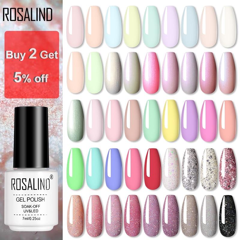 ROSALIND УФ Гель лак для ногтей Дизайн ногтей УФ/Светодиодная лампа Полупостоянный для ноготь для маникюра наклейки для ногтей макарон|Гель для ногтей|   | АлиЭкспресс - Товары для красоты: бестселлеры