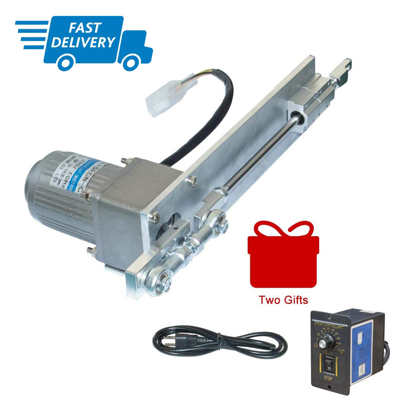 DIY 110/220V AC Reciprocating Linear Actuator Stroke 100mm/4inch + AC Speed Controller Kits For Squirt Spraying Pellet Mechanism