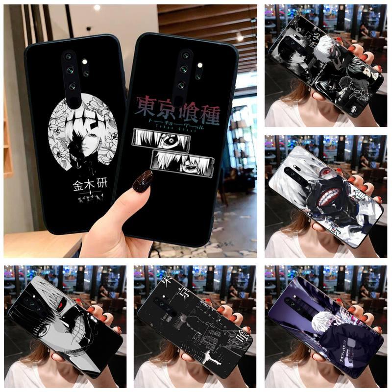Anime tóquio ghoul japão suave caso de telefone para redmi 9a 8a 7 6 6a nota 9 8t pro max redmi 9 k20 k30 pro