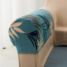 2PCS Decorative Printed Removable Spandex Accessories Elastic Sofa Armrest Covers Recliner Dustproof Universal Couch Protective