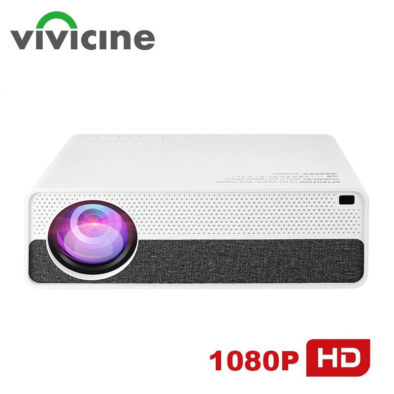 Vivicine M19 plus récent 1080p projecteur, Option Android 9.0 HDMI USB PC 1920x1080 LED full hd Home cinéma vidéoprojecteur Proyector