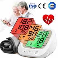 ¡Nuevo! Cofoe control automático de la presión Arterial del brazo dispositivo medidor de pulso Arterial medidor de gran capacidad esfigmomanómetro de memoria