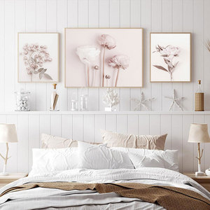 Flower Poster Peony Print Roses Wall Art Floral Art Canvas Painting Wall Picture Scandinavian Wall Art Picture Living Room Decor