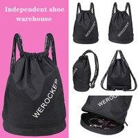 2019 Drawstring bag mens backpacks Gym Bag Shoe Compartment Waterproof Sport Bags for Fitness Training Yoga Bolsa Sac De Sport