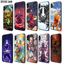 IYICAO Avatar The Last Airbender Soft Black Silicone Case for iPhone 11 Pro Xr Xs Max X or 10 8 7 6 6S Plus 5 5S SE цены