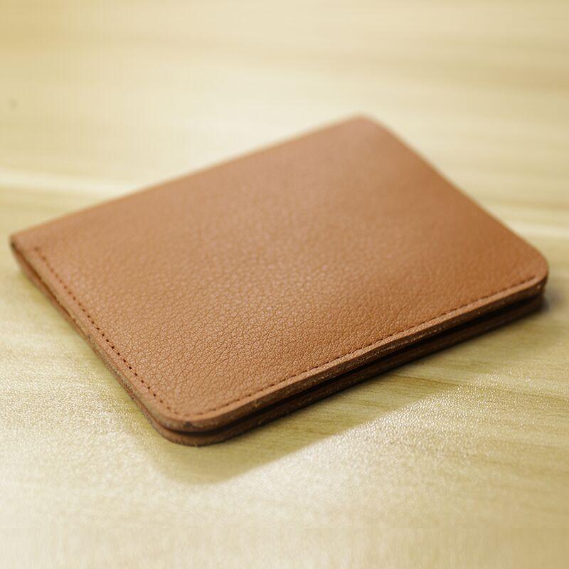 couro genuíno clip jovem carteira vertical macio preto marrom bolsa de couro