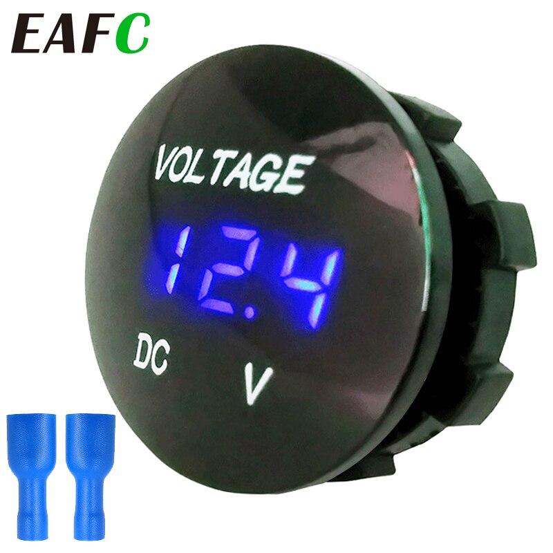 DC 12V-24V compteur de tension numérique voiture moto voltmètre testeur de tension pour voiture Auto moto bateau ATV camion