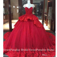 Luxury Quinceanera Dresses With Lace Appliques Beads Tiered Long Chapel Train Vestidos De 15 Anos Prom Pageant Dress