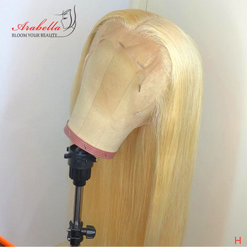 30 Inches Honey Blonde Lace Front Wig With Baby Hair 100% Human Hair Wigs Malaysian Remy Hair 13*4 Straight 613 Lace Front Wig
