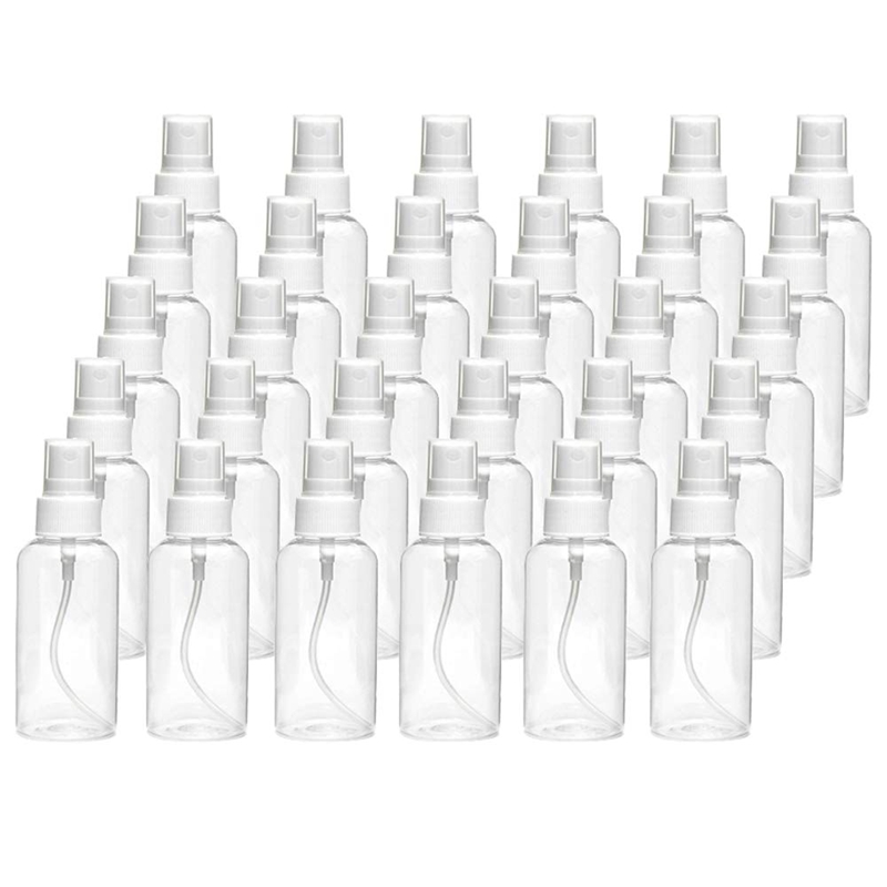 30Ml Spray Bottle Transparent Spray Bottle Refillable Empty Plastic Bottle Travel Bottle Suitable For Disinfection Liquids Of Es