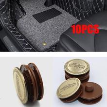 10 комплектов металлического коврового крепежа для автомобиля, фиксаторы для ковров, пряжка для ковров, противоскользящая накладка, фиксатор