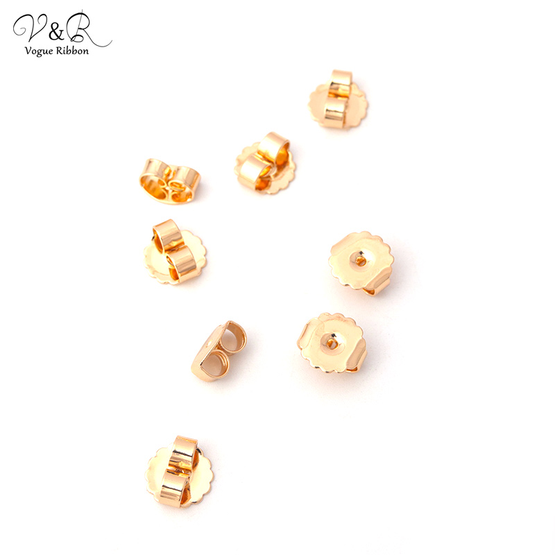 Diy Finding Materials Gold Plated Butterfly Earring Closure Stopper For Earring Diy Handmade Jewelry Making Findings Components