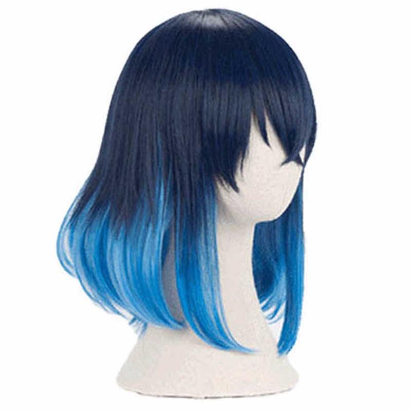 Demon Slayer Kimetsu no Yaiba Hashibira Inosuke Cosplay accesorios de Peluca de pelo sintético resistente al calor hombres mujeres pelucas