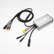 Ebike controlador impermeável 48v 500w controlador com conector xt60 para bateria 36v compatível com kt lcd3 lcd4 lcd5 display