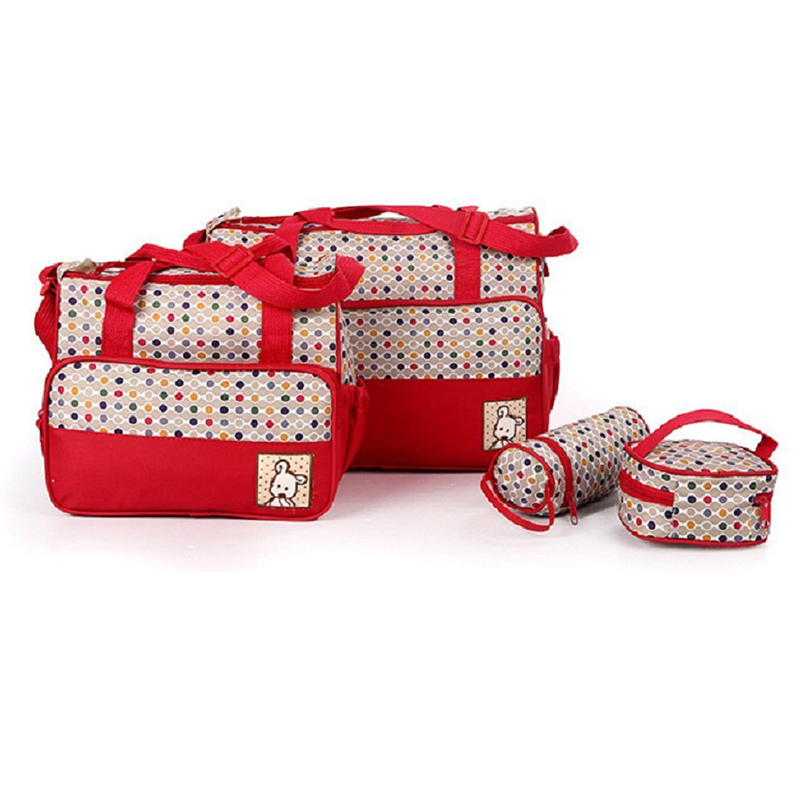 Set 5 Kits Mom Bag For Baby Bottle Maternal Pocket Bag /Handbag For Baby Carriage Trolley Feeding Bottle Food Mattress Honeycomb