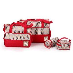Image 1 - Set 5 kits Mom bag for Baby Bottle Maternal Pocket Bag /Handbag for baby carriage trolley feeding bottle food mattress honeycomb