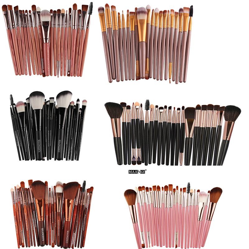 20/<font><b>22</b></font>/24 pcs <font><b>Makeup</b></font> <font><b>Brushes</b></font> <font><b>Set</b></font> Foundation <font><b>Brush</b></font> Blush Powder <font><b>Brush</b></font> Eyebrow Eyeshadow <font><b>Brush</b></font> Lipa Eyes Make Up <font><b>Brush</b></font> <font><b>Cosmetics</b></font> image