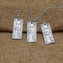 Popular charm personality dollar coin pendant earrings necklace retro creative fun gift jewelry keychain