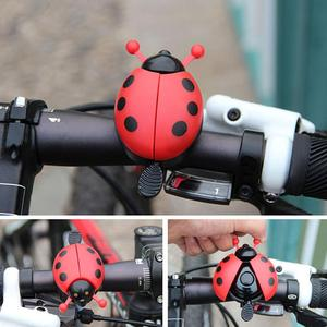 Funny Bicycle Bell Ring Aluminum Alloy Lovely Kid Beetle Mini Cartoon Ladybug Ring Bell For Cycling Bike Bell Ride Horn Alarm(China)