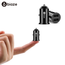 Biaze Dual USB Car Charger 3.1A Mini Fast Charger