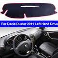 Cubierta interior del salpicadero del coche para el plumero de Dacia 2011 a la izquierda almohadilla del salpicadero cubierta del salpicadero alfombra alfombrilla del salpicadero cojín Anti-sol