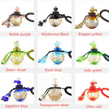 Baroque Essential Oil Bottle  Pendant Necklace Female Retro Aromatherapy Glass Pendant Fashion Statement Sweather Chain Necklace residence major suit high set counters million baroque full luxury retro dinner exaggerated statement necklace girlfriend gift
