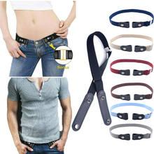 Di modo Registrabile Invisibile Pigro Fibbia-Trasporto Cinghia di Vita Elastica Senza Problemi Cintura Elastico Degli Uomini Dei Jeans Dei Pantaloni del Vestito Delle Donne Cintura
